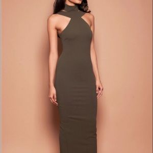 Nookie Dresses - Nookie Celestial Gown - olive (S)